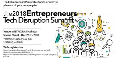 The 2018 Entrepreneurs and Tech Disruption Summit